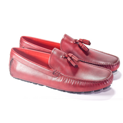 JR LOAFER WINE RED