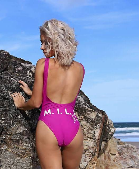 M.I.L.F life Destiny Swimsuit - Mermaid Magenta