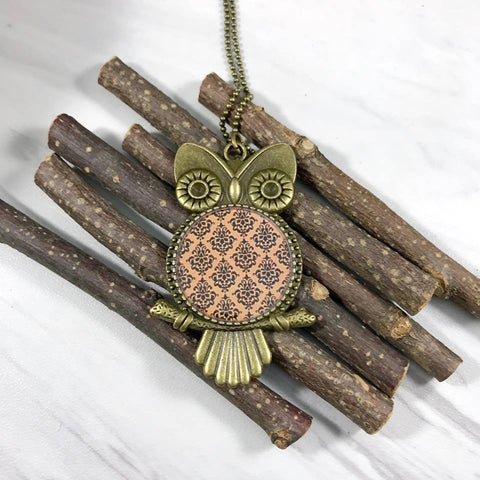 Halloween Inspired Owl Necklace