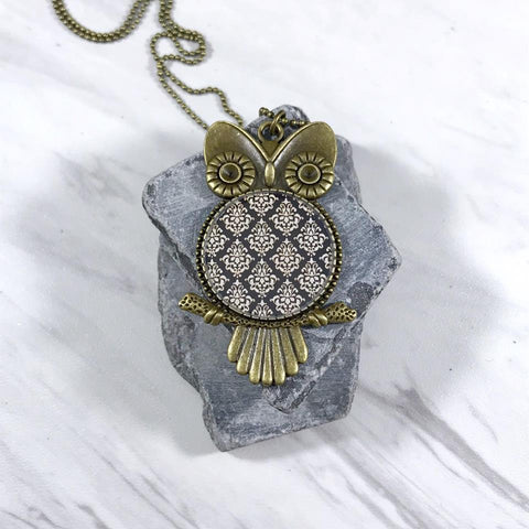 Fall Inspired Owl Necklace