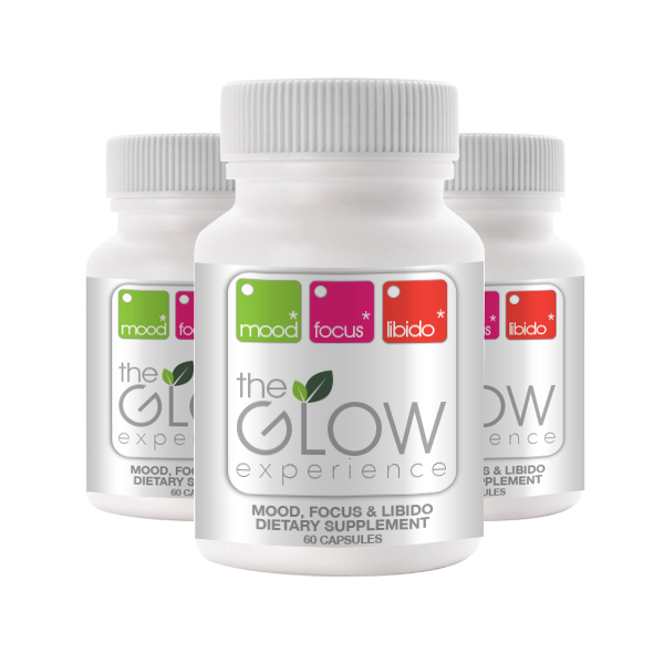 3 Glow Bottles, 90 Day Supply, 180 Vegetable Capsules