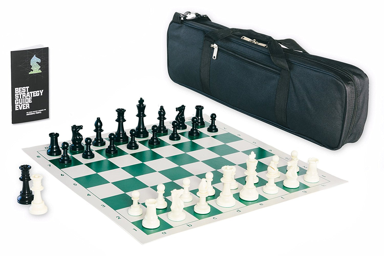 Triple Weighted Tournament Chess Set with Chess Bag