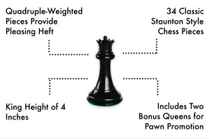 Best Chess Set Ever - Quadruple Weighted Chess Pieces