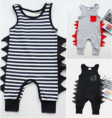 Cute Baby Boy Cotton Sleeveless Playsuit
