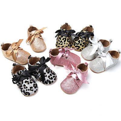 Cute Baby Bow Glitter Shoes