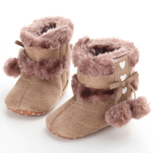Plush Sole Moccasins Booties - 5 Storks