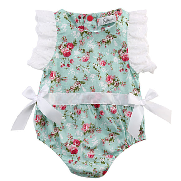 Baby Girls Floral Sleeveless Romper