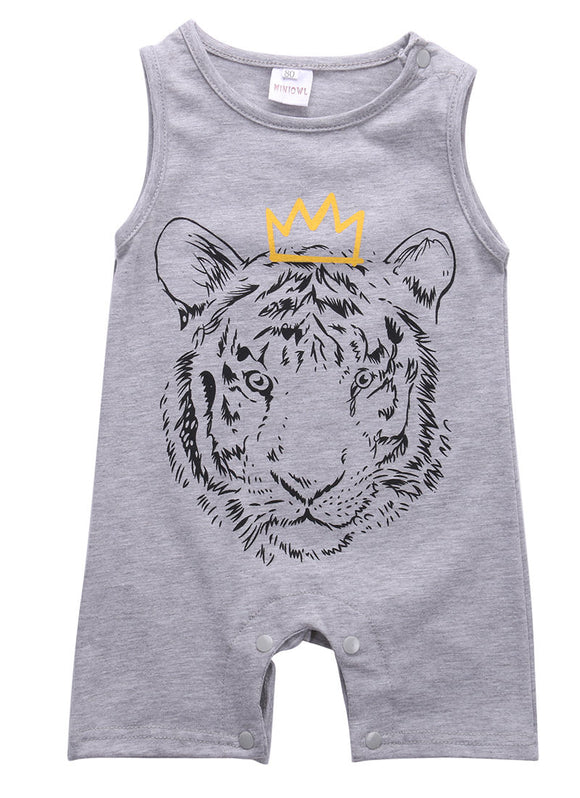 Tiger Sleeveless Romper