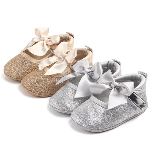 Sparkly Soft Bow-Knot Shoes