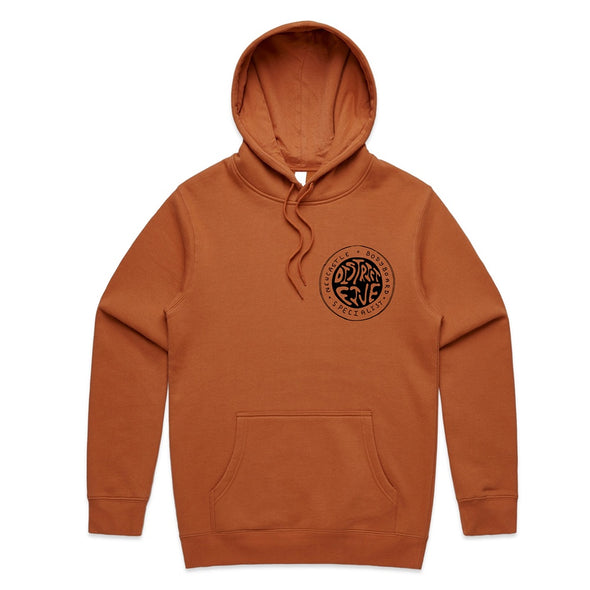 D5 CRUISIN STAPLE HOODED JUMPER COPPER - D5 BODYBOARD SHOP