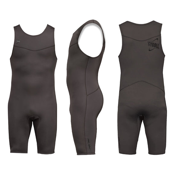 Gyroll Primus 2/2 Short John Spring Suit - Chocolate -D5 BODYBOARD SHOP