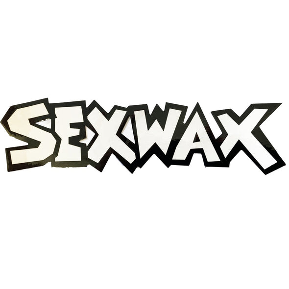 "SEX WAX 8"" DIECUT STICKER BLACK WHITE - D5 BODYBOARD SHOP"