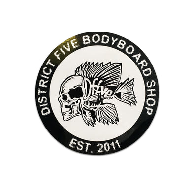 D5 ROUND FISH STICKER