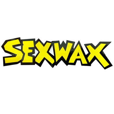 "SEX WAX 8"" DIECUT STICKER YELLOW BLACK - D5 BODYBOARD SHOP"