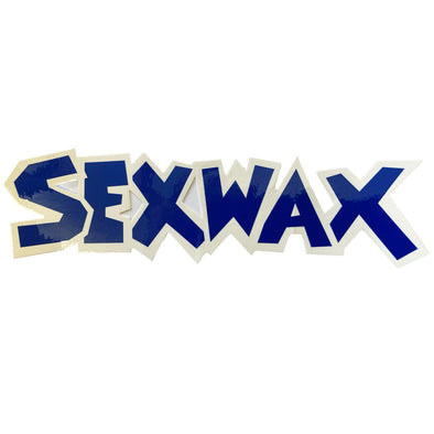 "SEX WAX 8"" DIECUT STICKER BLUE WHITE - D5 BODYBOARD SHOP"
