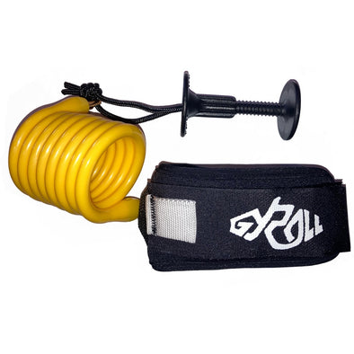 Gyroll Variable Bicep Leash - Yellow - D5 BODYBOARD SHOP