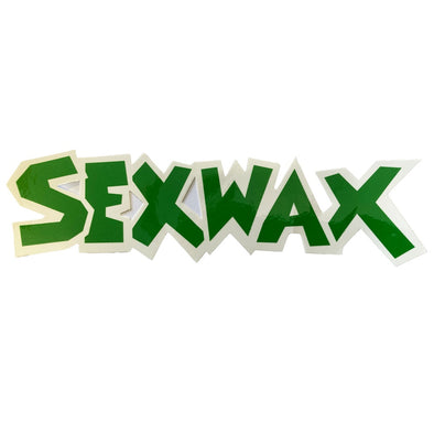 "SEX WAX 8"" DIECUT STICKER GREEN WHITE - D5 BODYBOARD SHOP"