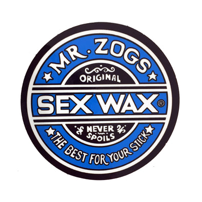 Sex Wax Stickers From Mr Zogs - Blue