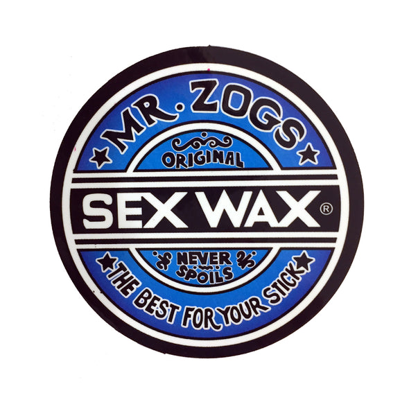 Sex Wax Stickers From Mr Zogs - Blue Fade