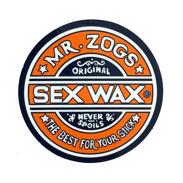 Sex Wax Stickers From Mr Zogs -  Orange