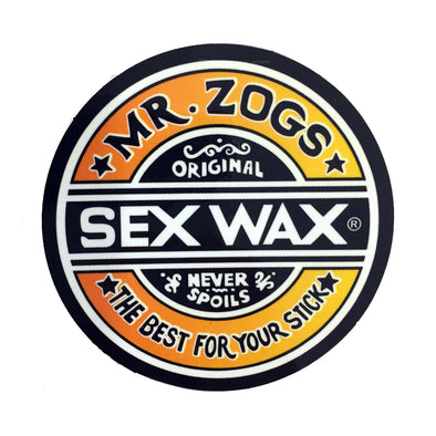Sex Wax Stickers From Mr Zogs - Orange Fade