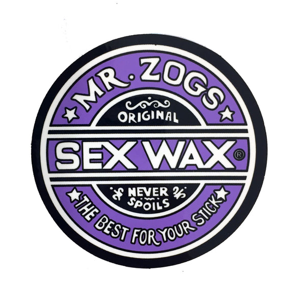 Sex Wax Stickers From Mr Zogs -  Purple