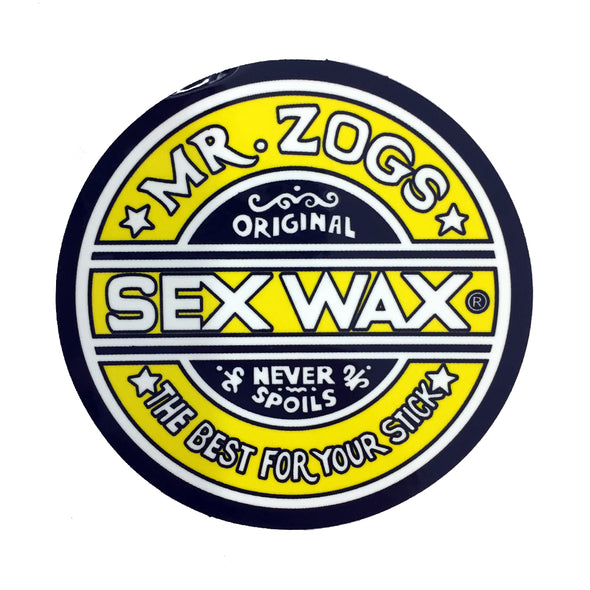 Sex Wax Stickers From Mr Zogs -  Yellow