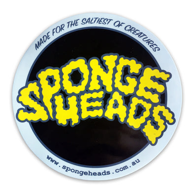 SPONGEHEADS STICKER ROUND -  CLEAR/BLACK/GREY/YELLOW
