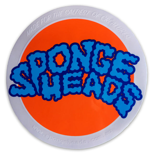 SPONGE HEADS ROUND STICKER -  CLEAR/WHITE/ORANGE/BLUE