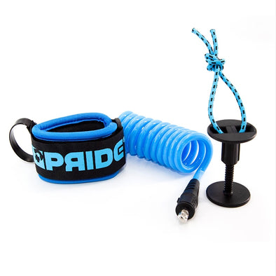PRIDE DELUXE WRIST LEASH - AQUA BLUE - D5 BODYBOARD SHOP