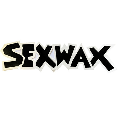"SEX WAX 8"" DIECUT STICKER WHITE BLACK - D5 BODYBOARD SHOP"
