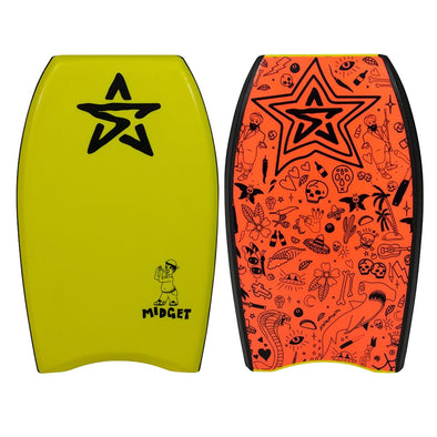 "Stealth Midget 22"" EPS Bodyboard - Yellow - D5 BODYBOARD SHOP"