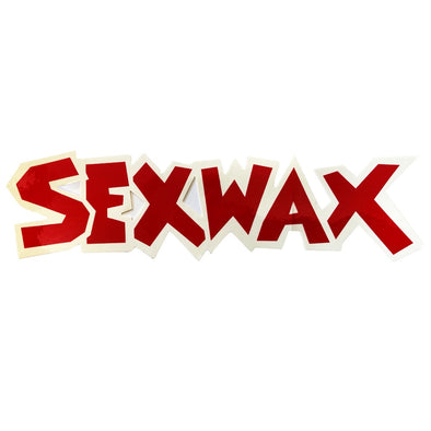 "SEX WAX 8"" DIECUT STICKER RED WHITE - D5 BODYBOARD SHOP"