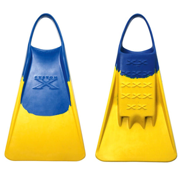Custom X Fins Blue Yellow