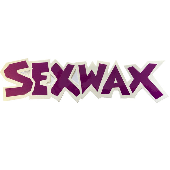 "SEX WAX 8"" DIECUT STICKER PURPLE WHITE - D5 BODYBOARD SHOP"