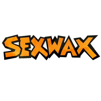 "SEX WAX 8"" DIECUT STICKER ORANGE BLACK - D5 BODYBOARD SHOP"