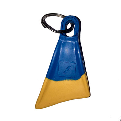 NIFE MINI FIN KEYRING - Blue/Yellow - D5 BODYBOARD SHOP