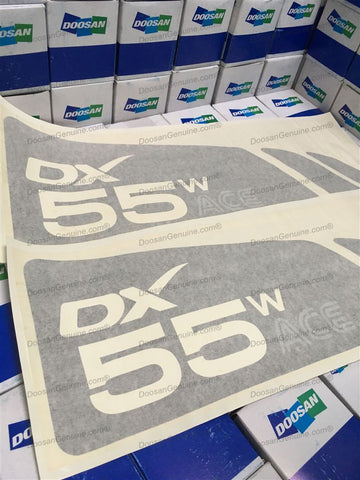 DECAL DX55WACE (SET).