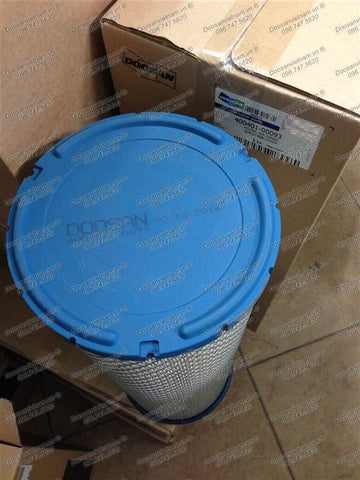 400401-00093. FILTER,AIR;INNER For AIR CLEANER Doosan DX300LC (CECAA,DI,DOM) ~ DX520LCA (CECAG,DI,DOM) / DL300 (CWLAH,DI,DOM) ~ DL500 (CWLAL,DI,DOM).