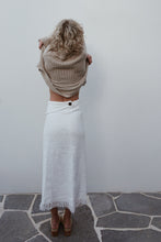 Coco Midi Skirt Natural - omness