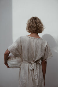 Stripe Robe Dress - omness