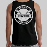 Black Sleeveless Shirt - Spud Beam White Design