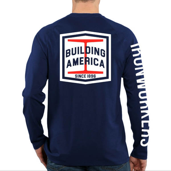 Navy Blue Long Sleeve - Building America Steel