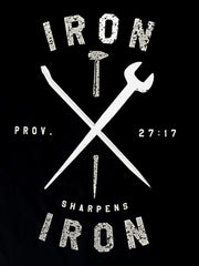 Iron Sharpens Iron - Black Short Sleeve