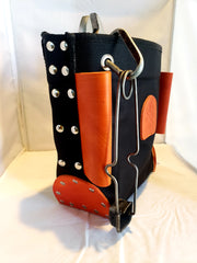 Black Canvas And Leather Ironworker Bolt Bag