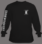 USA Flag- Black Long Sleeve T-shirt