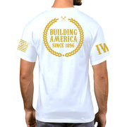 White Short Sleeve Gold Edition - Building America