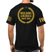 Black Short Sleeve Gold Edition - Building America