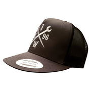 White 1896 - Gray/ Black Trucker Snap Hat