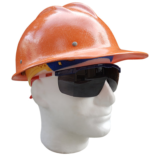 Building America Dark - Ironworker Safety Z87.1 Safety Glasses